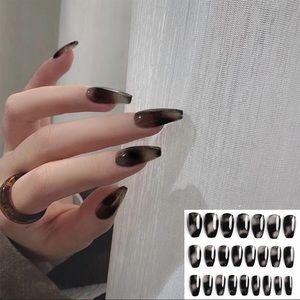 BNIB black marble nails